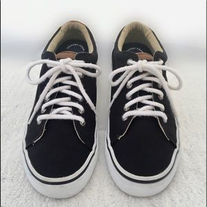 Sperry Men's Black Canvas & Leather Trim Sneakers